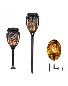 Solar płomień światła taniec na świeżym powietrzu migotanie latarki światła wodoodporna 96 LED Lantern słonecznej reflektory zmierzchu do świtu oświetlenie lampy ogród ścieżek podwórku Patio ścieżki