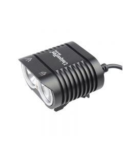UniqueFire HD-016 2 * Cree XM-L2 4 tryby 1800 lumenów LED rower światła roweru Przednie światła czarny