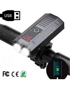 światło rowerowe USB ładowalne światła rowerowe przednie tylne 00 Lumen szerokokątny widok reflektorów