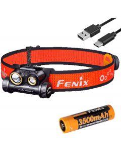 Fenix HM65R-T 1500 Lumen Dual Beam USB-C Reflektor akumulatorowy USB-C, lekki do jazdy trailowej z organizerem baterii LumenTac