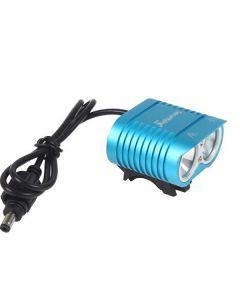 UniqueFire HD-016 2 * Cree XM-L2 4 tryby 1800 lumenów LED rower światła roweru Przednie światła niebieski