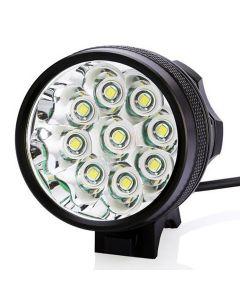 9T6 rowerów Light 9 * Cree XM-L T6 10800 lumenów 3 tryby LED rowerów reflektorów to bateria i ładowarka - czarny