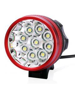 9T6 rowerów Light 9 * Cree XM-L T6 10800 lumenów 3 tryby LED rowerów reflektorów to bateria i ładowarka - czerwony
