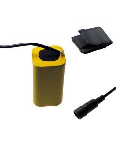 5521 DC interfejs.4V 4 x 18650 8800mAh Bike lekka bateria dla roweru Przednie światła LED