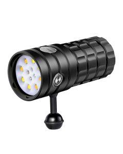 NiteBeam UV 395-400nm Latarka nurkowa 8 XHP50 Białe światło / 4x Czerwone światło / 4x Latarka do nurkowania UV LED