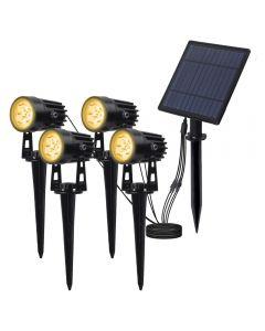 Zasilany energią słoneczną Spotlight Panel słoneczny Oświetlenie zewnętrzne Krajobraz Yard Garden Tree Oddzielnie Lampa