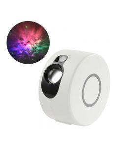 Laser Starry Sky Projektor Night Light 7 Kolorów 360 Stopni Rotacja Galaxy Projekcja Lampa Ambient Sypialnia Noc Oświetlenie Prezent