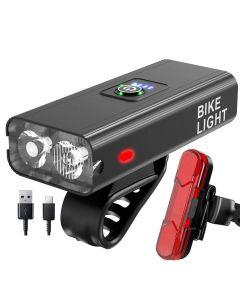 Światło rowerowe USB Ładowanie LED 00 Lumens MTB Przednie lampy reflektor aluminium Ultralight Latarka Rower Światło