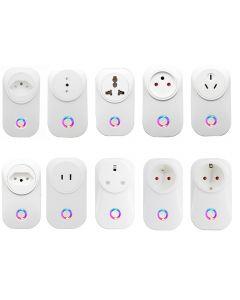Inteligentne gniazdo Smart Plug EU UK Swit AU BR JP JP Izrael Ita ZA Plug A Remote Control Alexa Google Home Energy Monitor