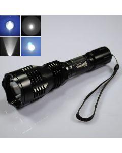 UniqueFire HS-802 Cree niebieskim światłem długim zakresie Led latarka